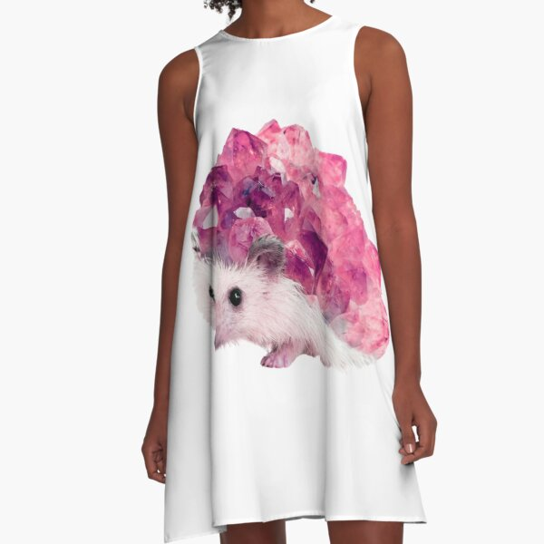 Lucky Mineral hedgehog by Alice Monber A-Line Dress