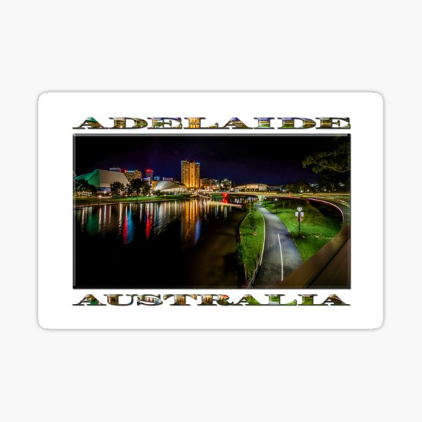 Adelaide Riverbank at Night IV Sticker