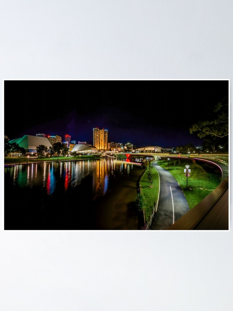 Alternate view of Adelaide Riverbank at Night IV Poster
