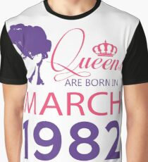 It's My Birthday 36. Made In March 1982. 1982 Gift Ideas. Graphic T-Shirt