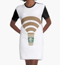 Cofee Zone Graphic T-Shirt Dress