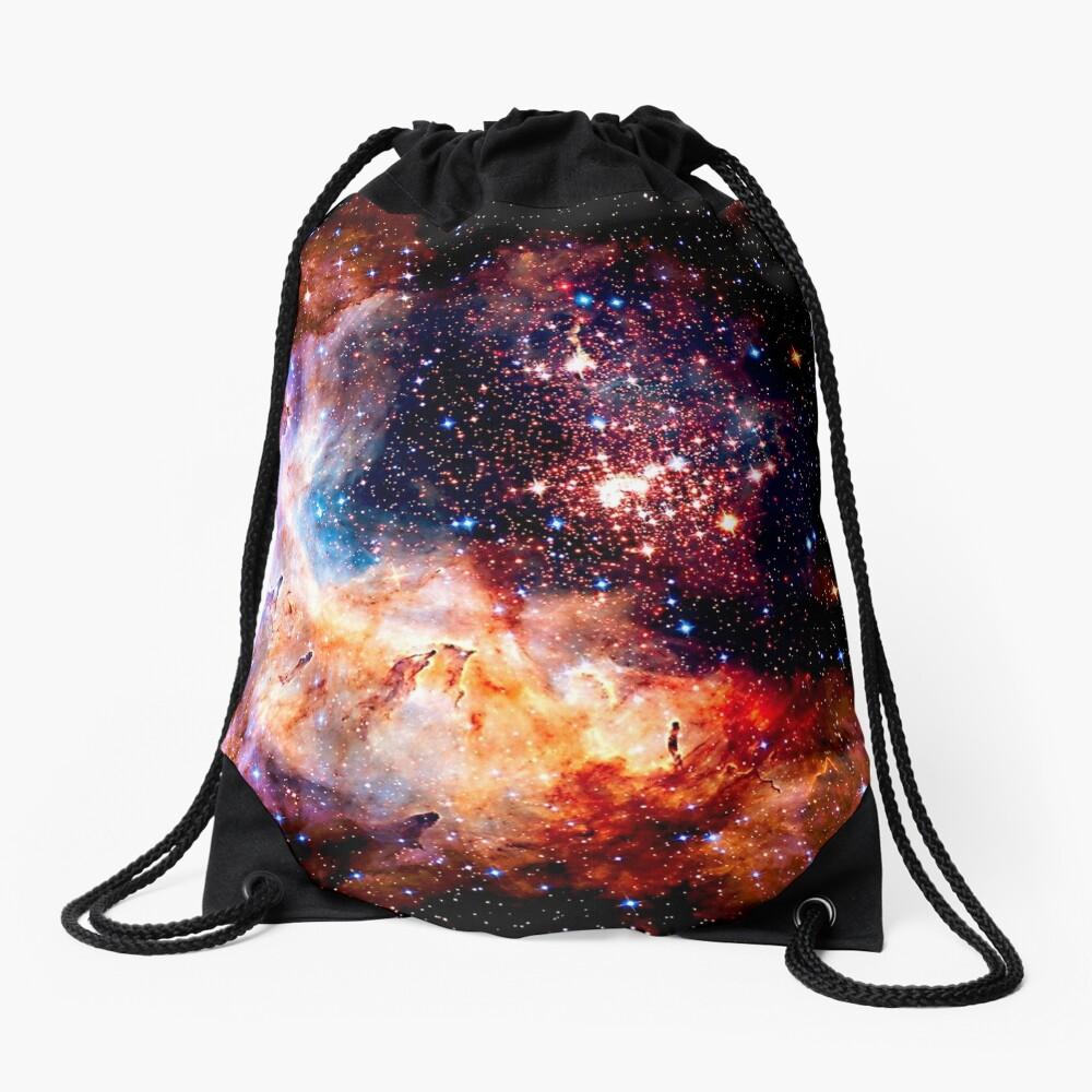 Cosmic Connection, Galaxy, Space, Nebula, Stars, Planet, Universe,  Drawstring Bag