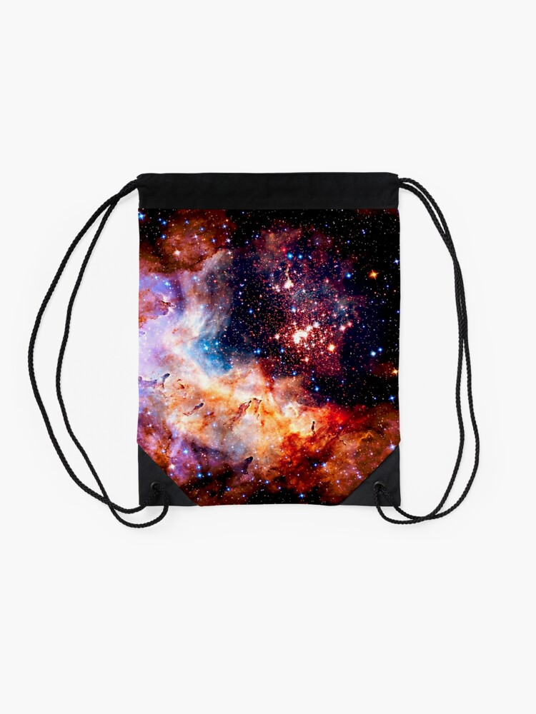 Alternate view of Cosmic Connection, Galaxy, Space, Nebula, Stars, Planet, Universe,  Drawstring Bag