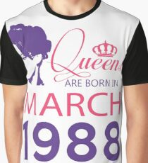 It's My Birthday 29. Made In March 1989. 1989 Gift Ideas. Graphic T-Shirt