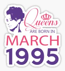 It's My Birthday 23. Made In March 1995. 1995 Gift Ideas. Sticker