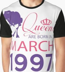 It's My Birthday 21. Made In March 1997. 1997 Gift Ideas. Graphic T-Shirt