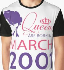 It's My Birthday 17. Made In March 2001. 2001 Gift Ideas. Graphic T-Shirt