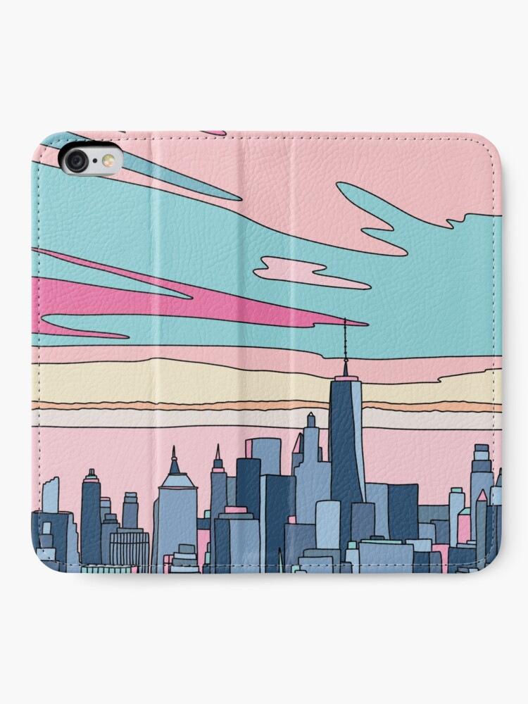 Alternative Ansicht von Stadtsonnenuntergang bei Elebea iPhone Flip-Case