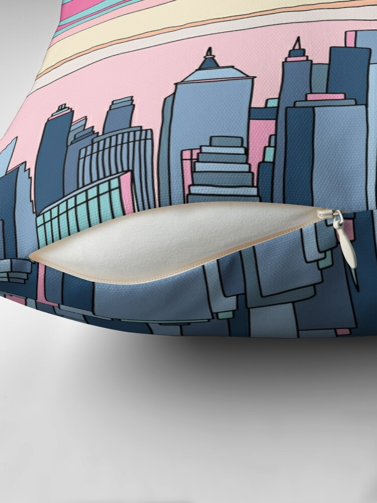 Alternate view of City sunset by Elebea Throw Pillow