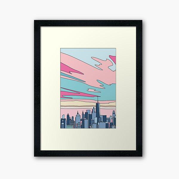 City sunset by Elebea Framed Art Print