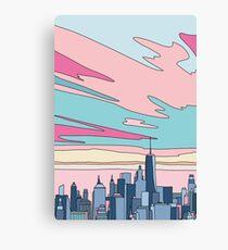 City sunset by Elebea Canvas Print