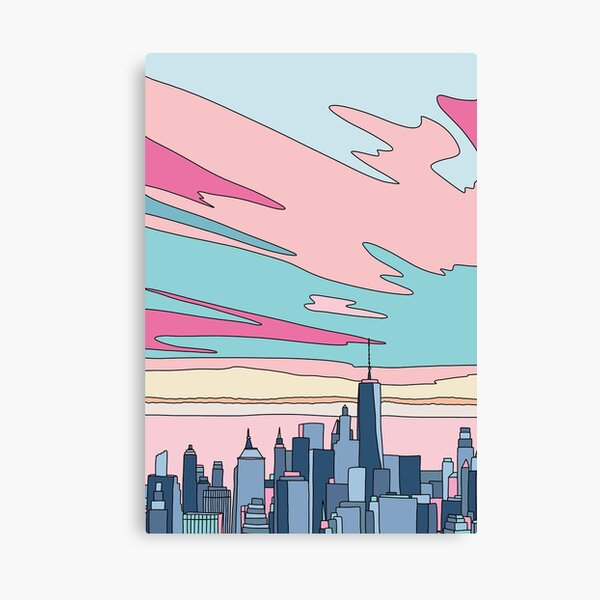 City sunset by Elebea Canvas Print