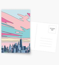 City sunset by Elebea Postcards