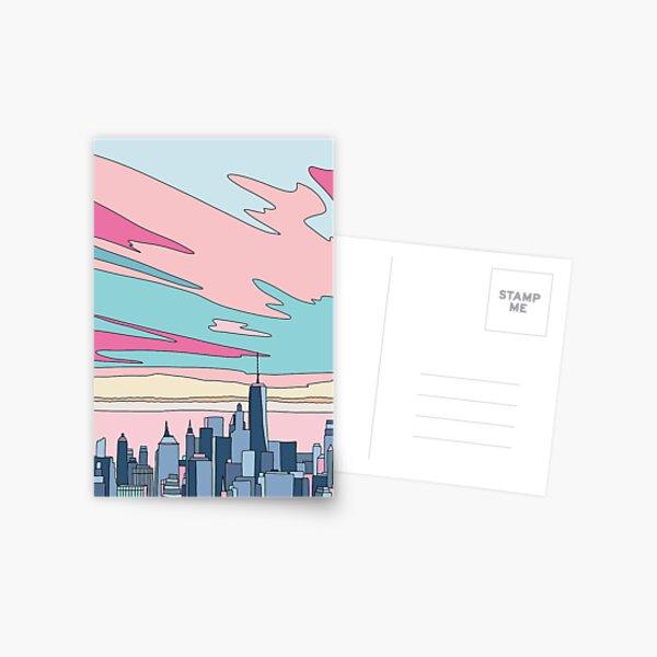 City sunset by Elebea Postcard