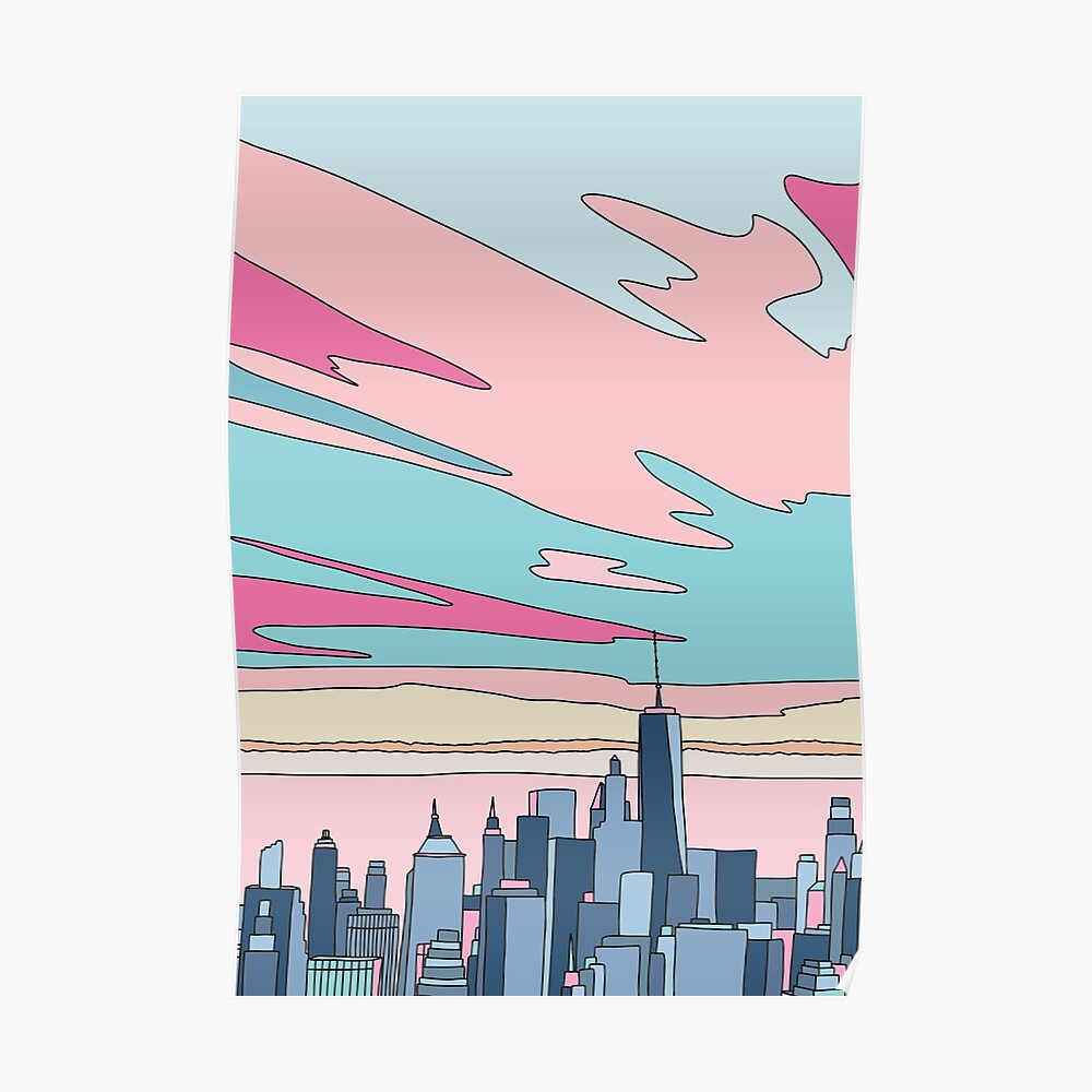 City sunset by Elebea Poster