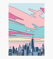 Stadtsonnenuntergang bei Elebea Fotodruck