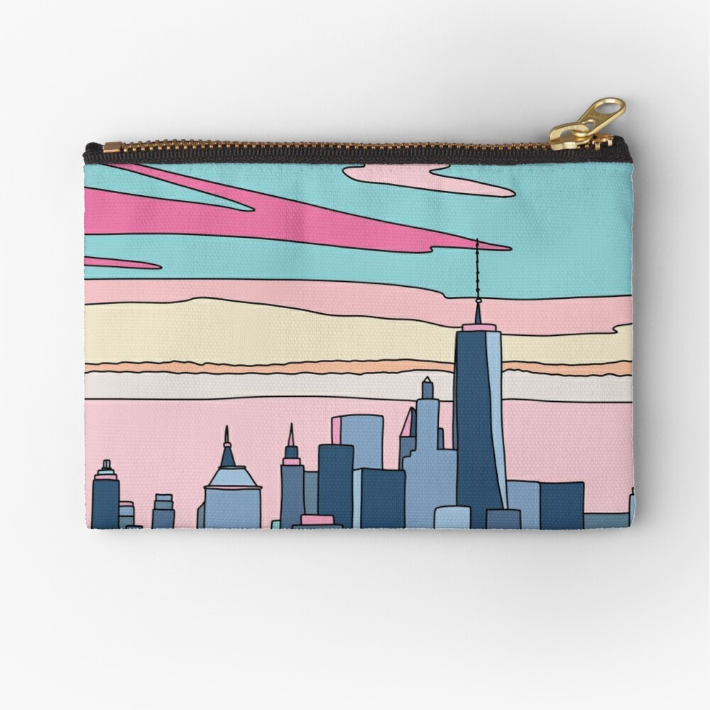 City sunset by Elebea Zipper Pouch