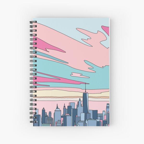 City sunset by Elebea Spiral Notebook