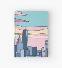 City sunset by Elebea Hardcover Journal