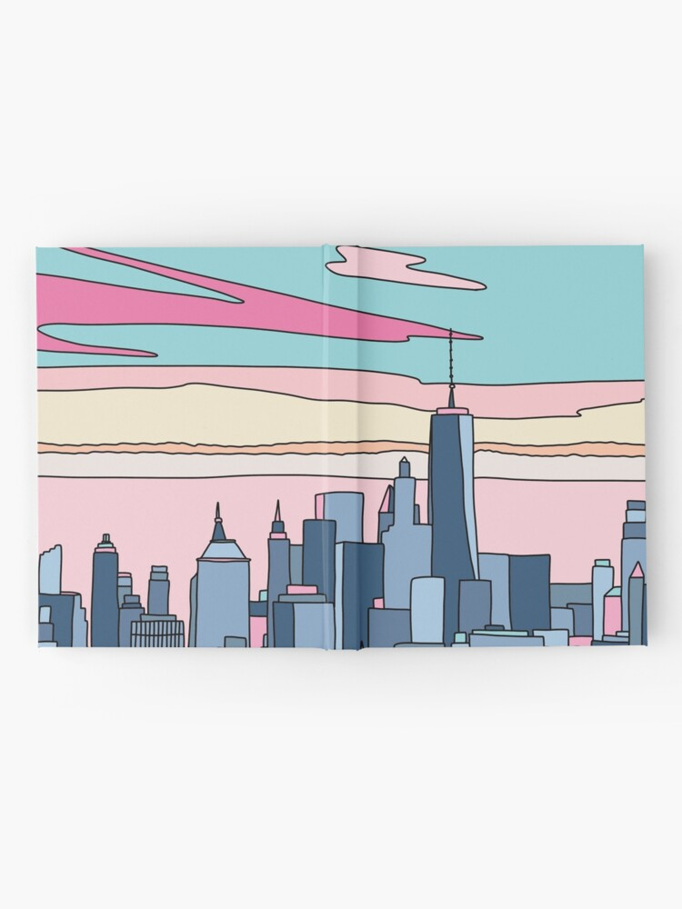 Alternate view of City sunset by Elebea Hardcover Journal