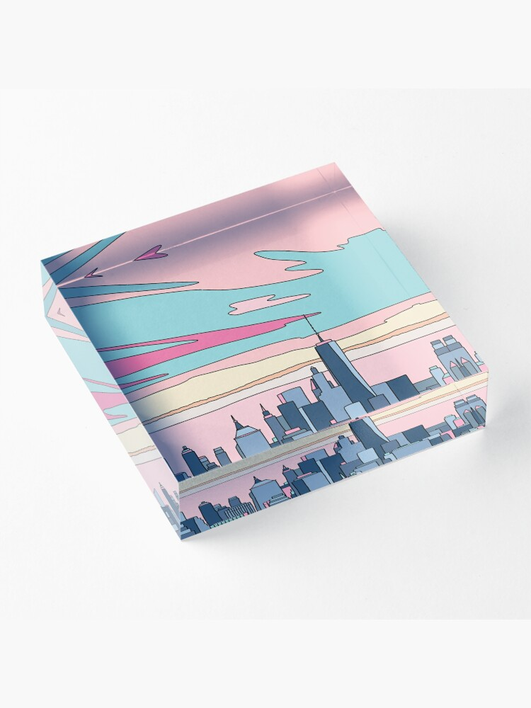 Alternate view of City sunset by Elebea Acrylic Block