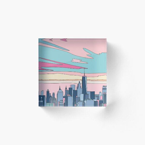 City sunset by Elebea Acrylic Block