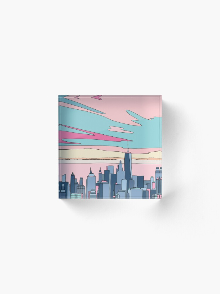 Alternate view of City sunset by Elebea Acrylic Block