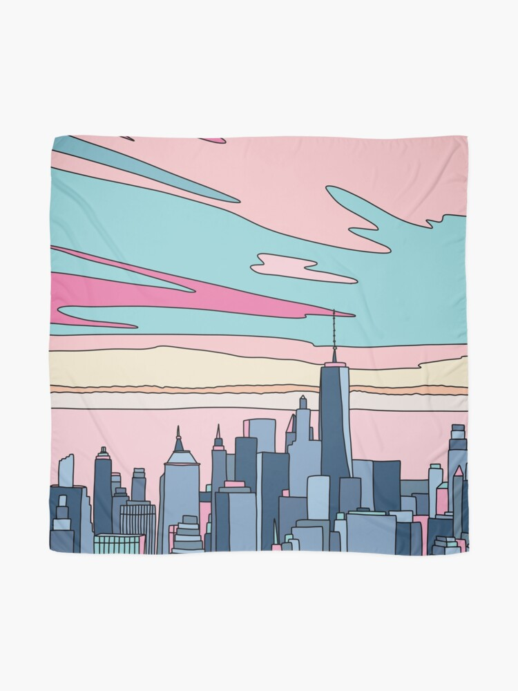 Alternate view of City sunset by Elebea Scarf
