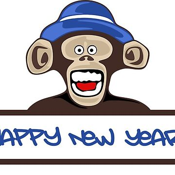 Happy New Year Monkey by MartinV96