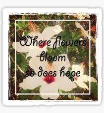 Flowers Bloom Sticker