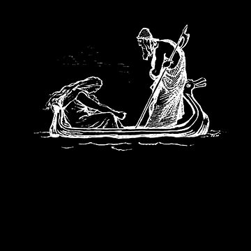 Norse Myth Frigg and Odin Sailing In Fensalir  by taiche