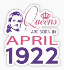 It's My Birthday 96. Made In April 1922. 1922 Gift Ideas. Sticker