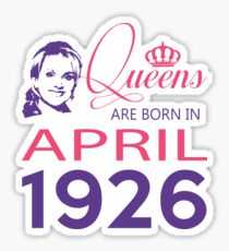 It's My Birthday 92. Made In April 1926. 1926 Gift Ideas. Sticker