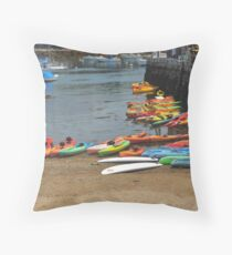 Colorful Kayak Holding Area Throw Pillow
