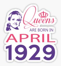 It's My Birthday 89. Made In April 1929. 1929 Gift Ideas. Sticker