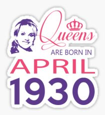 It's My Birthday 88. Made In April 1930. 1930 Gift Ideas. Sticker