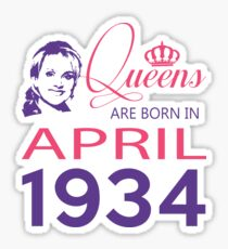 It's My Birthday 84. Made In April 1934. 1934 Gift Ideas. Sticker