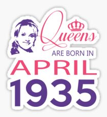 It's My Birthday 83. Made In April 1935. 1935 Gift Ideas. Sticker