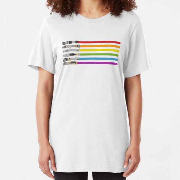 Rainbow Light Slim Fit T-Shirt