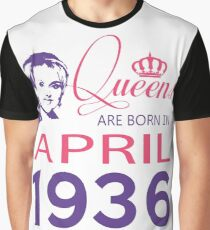 It's My Birthday 82. Made In April 1936. 1936 Gift Ideas. Graphic T-Shirt