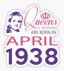 It's My Birthday 80. Made In April 1938. 1938 Gift Ideas. Sticker