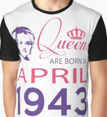 It's My Birthday 75. Made In April 1943. 1943 Gift Ideas. Graphic T-Shirt