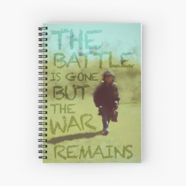 The War Remains - painting by Brian Vegas Spiral Notebook