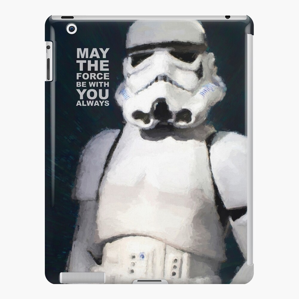 Trooper Force - painted portrait by Brian Vegas iPad Case & Skin