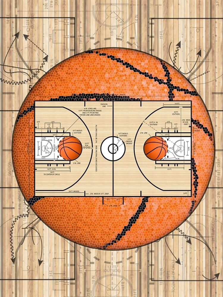 Basketball Court Team Sports Design by SkylineSquirrel