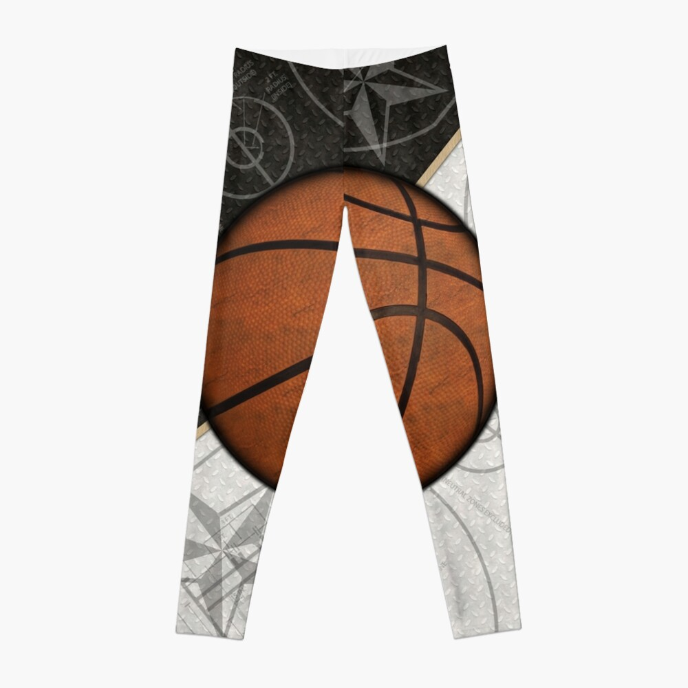 Basketball Stars and Court Team Sports Design Leggings