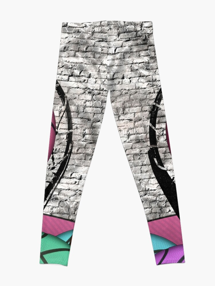 Alternate view of Colorful Basketballs Urban Grunge Hoop Leggings
