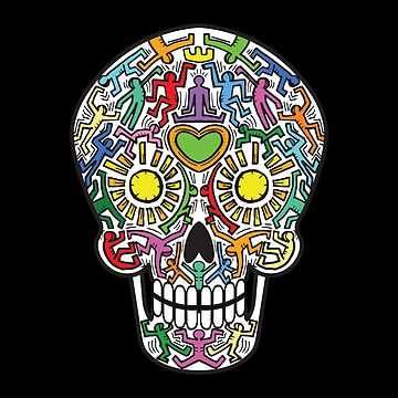 Mexican Calavera Skull in a street art theme by EyeSeeMS