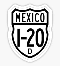 Carretera federal I-20D | Mexico Federal Highway Shield Sign Sticker
