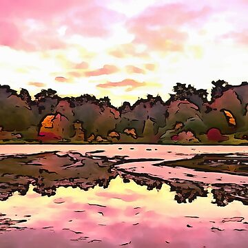 The Salmon Lake. (Painting) by cmphotographs